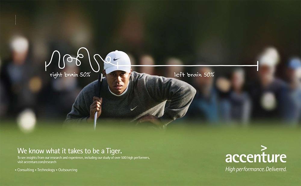 Michael Brennecke Accenture Tiger Woods Print